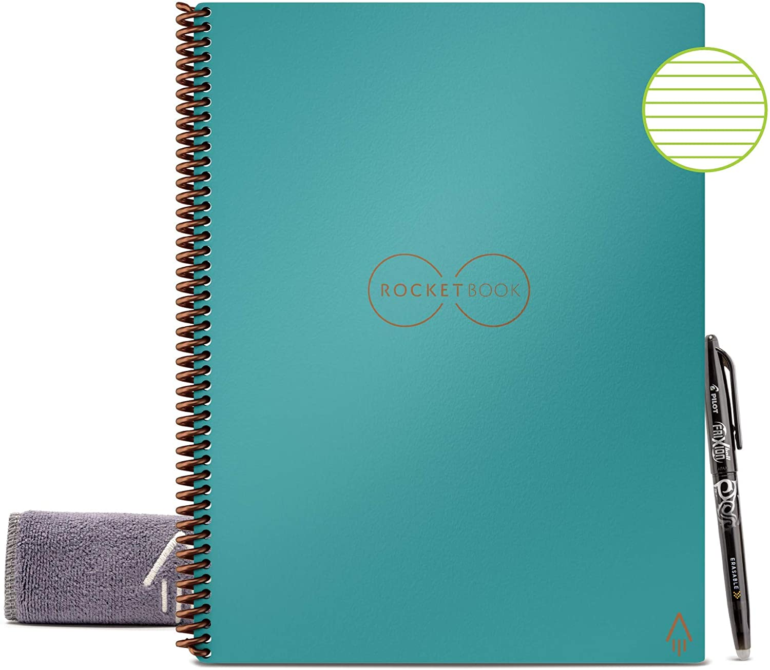 Rocketbook Color Smart Notebook Spiral 1 Subject