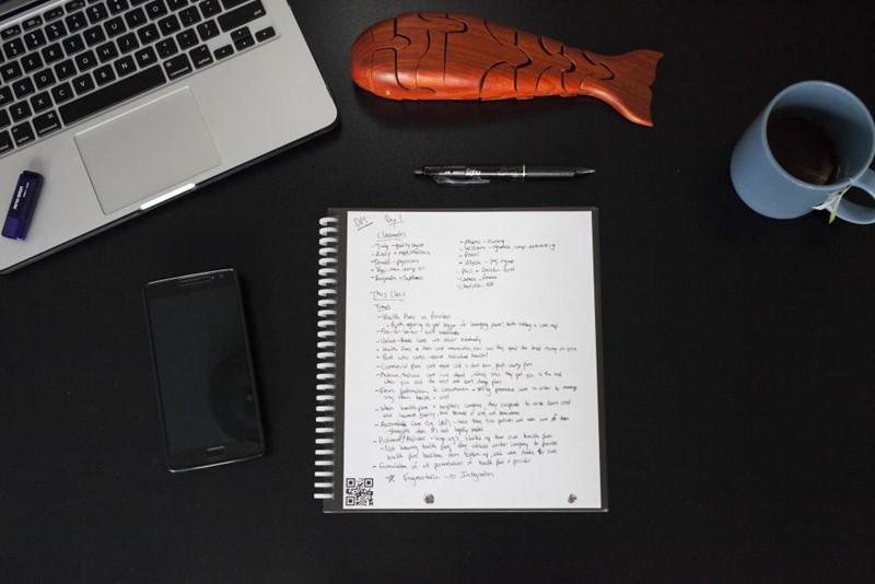 Smart Pen Delete Notebook Page